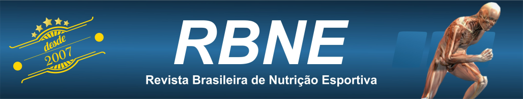 RBNE - Revista Brasileira de Nutrição Esportiva